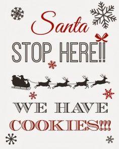 Free Printable Christmas Eve Milk and Cookies Sign for Santa! - The Creek Line House