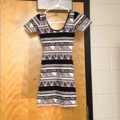American apparel body con dress Black and white tribal print body con dress American Apparel Dresses Mini