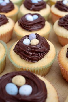 #easter #cupcakes with mini eggs on top!