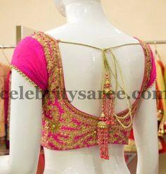 Sequins Work Pink Blouse | Saree Blouse Patterns