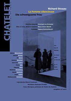 Rudi Meyer - La Femme silencieuse Die schweigsame Frau Opéra de Richard Strauss  100 x 140 cm, offset quadrichromie  Théâtre du Châtelet, Paris 200