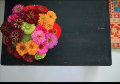 beautiful zinnias by ABCD Design