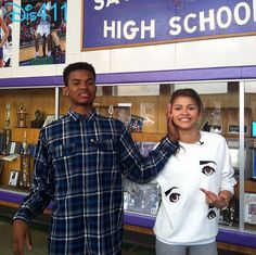 More Photos And Videos: Trevor Jackson And Zendaya At Sacramento Charter High With Get Schooled