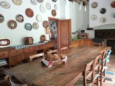 Country dining room from finca in Esporles, Mallorca.