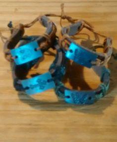 Lot of 4 Hemp Leather Bracelets