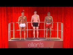Know or Go Under Where? Ellen Crowns her first Underwear Model.