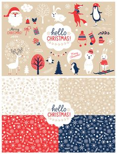 Christmas Characters Set by lenlis on Creative Market