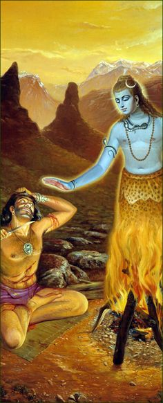 Vrkasura-http://www.krishnalilas.com/87-the-deliverance-of-lord-siva.htm