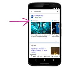 Tweets in mobile search results