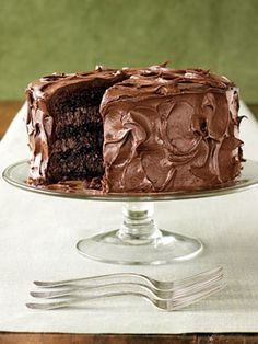We can guarantee this Rich Chocolate Layer Cake will make a special someone very happy. #desserts