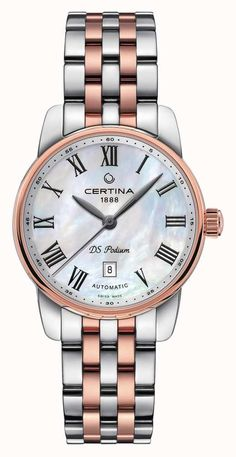 Certina Watch DS Podium Lady Automatic Watch available to buy online from with free UK delivery. Stylish Watches, Luxury Watches, Seiko Watches, Metal Bracelets, Automatic Watch, Gold Watch, Bracelet Watch, Baselworld 2016, Lady