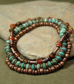 Turquoise Bracelet - Stretch Bracelet - Beaded Bracelets - Stack Bracelets - Native - Bangle