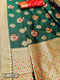 Multicoloured Silk Blend Saree with Blouse piece Trendy Fashion, Fashion Outfits, Designer Silk Sarees, Designer Wear, Types Of Fashion Styles, Indian, Blouse, Collection, Fashion Suits
