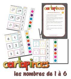 La maternelle de Laurène: Cartapinces - les nombres