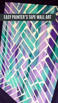 Elegant Painting Designs with Tape