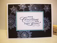 Shimmery Snowflakes-- use Snowflake Soiree but on navy background