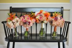 Bright Spring Wedding Bouquets Designed by JW Weddings and Events - Charleston, SC Spring Wedding Bouquets, Fall Wedding, Our Wedding, Wedding Flowers, Wedding Ideas, Bright Spring, Charleston Sc, I Fall, Glass Vase