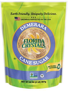 Discover bold flavor in Florida Crystals® Demerara Cane Sugar, a rich golden sugar with a hint of molasses!Crystallized from the initial pressing of pure cane, our Demerara Cane Sugar is a larg