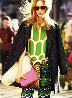 pattern mix - so good. The green, the pink, the leopard, love it all.