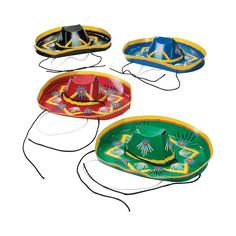 These festive Mariachi Hats are must-have additions to your Cinco de Mayo party supplies! Pass them out to guests or give one to each member of your band. Mexican Fiesta Party, Mexican Hat, Fiesta Theme Party, Luau Party, Party Themes, Party Ideas, Mariachi Hat, Open A Party, Fiesta Decorations