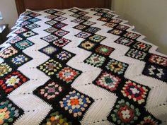 Zig Zag Grannies Afghan 1 by AfghansMadeWithLove on Etsy, $125.00