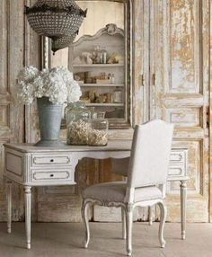 Kathy Kuo Home has a great collection of French Country Furniture, French Country decor, Shabby Chic decor, and Farmhouse Furniture. French Interior, French Decor, French Country Decorating, Interior Design, Decoration Shabby, Shabby Chic Decor, French Furniture, Shabby Chic Furniture, Bedroom Furniture