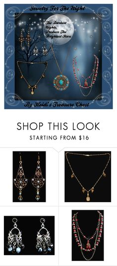 Jewelry For The Night by heidi-calamia-galati Vintage Jewelry.  https://www.etsy.com/shop/HeidisTreasureChest?ref=hdr_shop_menu #rhinestoneearrings #artdecoearrings #bohoearrings #chandelierearrings #gypsyearrings #turquoisenecklace #turquoisemedallionnecklace #artdeconecklace #ambercrystalnecklace #crystalnecklace #victoriannecklace #gothicnecklace #multistrandnecklace