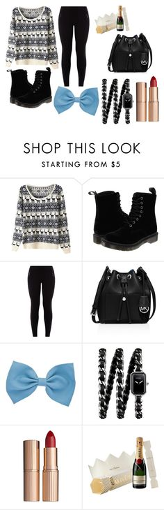 """Christmas 2"" by emilybancroft26 on Polyvore featuring Dr. Martens, MICHAEL Michael Kors, Chanel and Charlotte Tilbury"