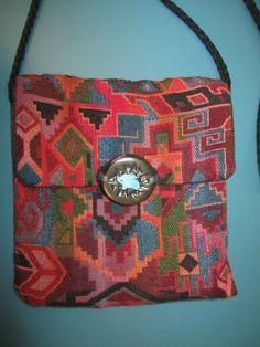 Vintage 80's AZTEC Hippie Shoulder Bag.....womens. aztec. boho. hippie. colorful. small purse. medium purse. shoulder purse. retro. indie on Etsy, $28.00