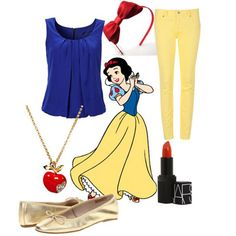 How to dress like a Disney princess ~ Snow White. @Megan Creamer you should dress Mckayla or Addy like this for Disneyland :)