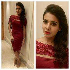 Samantha wins Most Admired Celeb at the Mercedes Benz Ritz style awards in chennai loveeeeee 😘😘😘 Samantha Images, Samantha Ruth, Female Actresses, Indian Actresses, Trendy Dresses, Stylish Outfits, Red Gowns, Indian Celebrities, One Piece Dress