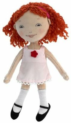 """Madame Alexander 12"""" Ivy Cloth Doll, Ivy and Bean Collection by Madame Alexander. $32.78. Inspired by the books by Annie Barrows and Sophie Blackall. 12"""" doll has a screen printed face and curly orange yarn hair that?s bedecked with a fuchsia ribbon. She is wearing a pink dress, white knee socks and black shoes. Ivy and Bean Collections. From the Manufacturer                Our Ivy Cloth Doll is based on the children's book Ivy and Bean by Annie Barrows. This 12"""" doll has..."""