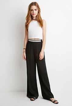 Embroidered Palazzo Pants | Forever 21 - 2000132583