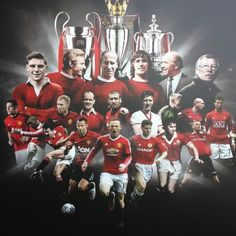 Manchester United greats! Manchester United Old Trafford, Manchester United Wallpaper, Manchester United Legends, Manchester United Players, Man Utd Fc, Eric Cantona, Sir Alex Ferguson, Soccer Poster, Wayne Rooney