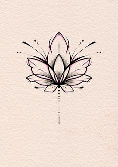 Simple Lotus Tattoo, Lotus Mandala Tattoo, Lotus Tattoo Design, Dragonfly Tattoo, Flower Tattoo Designs, Flower Tattoos, Tattoo Sketches, Drawing Sketches, Tattoo Drawings
