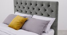Cama King Size con cajones Skye, terciopelo gris claro   MADE.com Camas King, Bed Pillows, Pillow Cases, Room Decor, Rooms, Pillow Beds, Beds With Storage, Velvet, Drawers