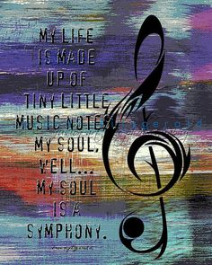 Tiny Music Notes. Musical Quote Wall Decor At di BrandiFitzgerald