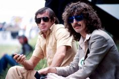 Jackie Stewart and George Harrison at Friar Park, 1978
