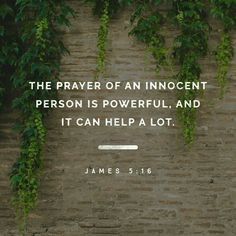 Therefore, confess your sins to one another and pray for one another, that you may be healed. The prayer of a righteous person has great power as it is working. James 5:16 ESV http://bible.com/59/jas.5.16.ESV