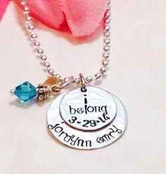Child of God Necklace, I Am a Child of God, LDS Baptism Gift Idea, Baptism Necklace, I Belong baptism gift on Etsy, $38.00