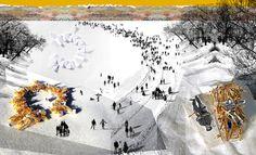 Francesca Perani, Laura Belotti · RESTING WITH THE BISONS Warming Huts Competition · Architettura italiana