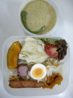 2013年09月04日 グリーンカレー   蒸し焼き野菜