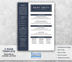 Grey white modern resume template printable modernist resume one page resume template word resume cover letter templates cv templates word curriculum vitae templates word t23 spiritdancerdesigns Choice Image