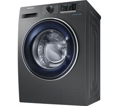 Buy SAMSUNG ecobubble WW80J5555FX/EU 8 kg 1400 Spin Washing Machine - Graphite | Free Delivery | Currys
