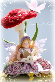 Isn't this beautiful : First Prize : Felted Spring Fairy : Fairy Garden Contest : The Magic Onions.com