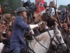 """This is a film clip of the movie """"Gettysburg""""- In this scene, you see an actor playing the Confederate General Robert E. Lee.  He is rallying the Confederate soldiers at Gettysburg.  Gettysburg was fought in 1863."""