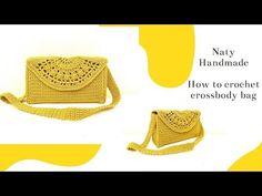 Πλεκτή τσάντα ώμου χιαστί  Crossbody bag  EN SUBS - YouTube Crochet Handbags, Crochet Bags, Fashion Bags, Purses And Bags, Diy And Crafts, Knit Crochet, Crossbody Bag, Pouch, Knitting