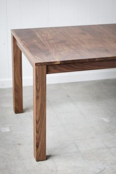 Parsons Dining Table With Leaf Inserts   Solid Walnut Extension Table