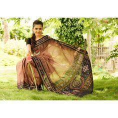 Buy Single Ikat Pasapalli Border Odisha Saree Chocolate Brown Fantasy | PC 21716