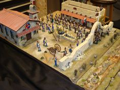 US Mexican War 1847 Diorama by Reed Fitkin figures by Reviresco